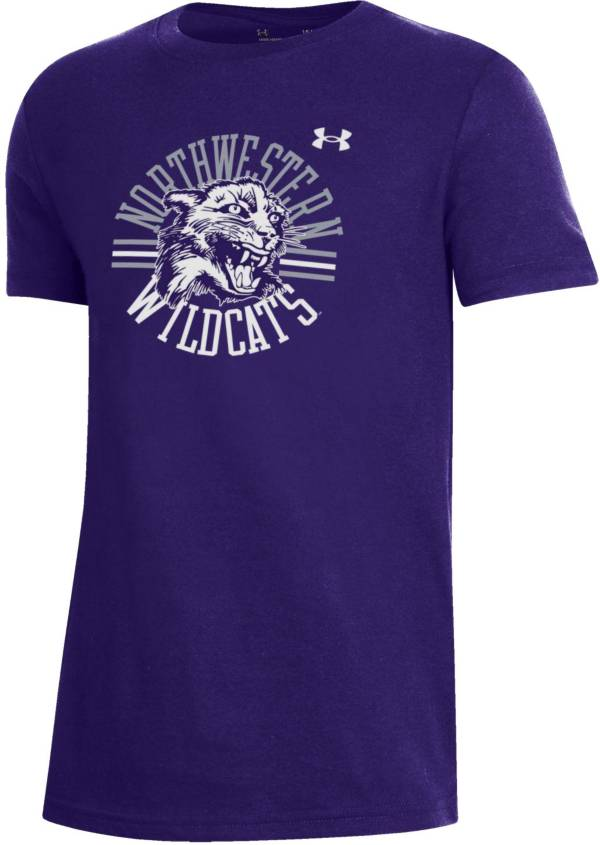 Under Armour Youth Northwestern Wildcats Purple Performance Cotton T-Shirt product image