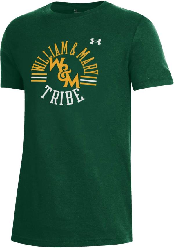 Under Armour Youth William & Mary Tribe Green Performance Cotton T-Shirt product image