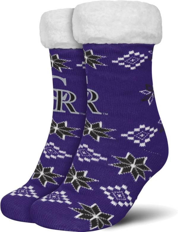 FOCO Colorado Rockies Cozy Socks product image