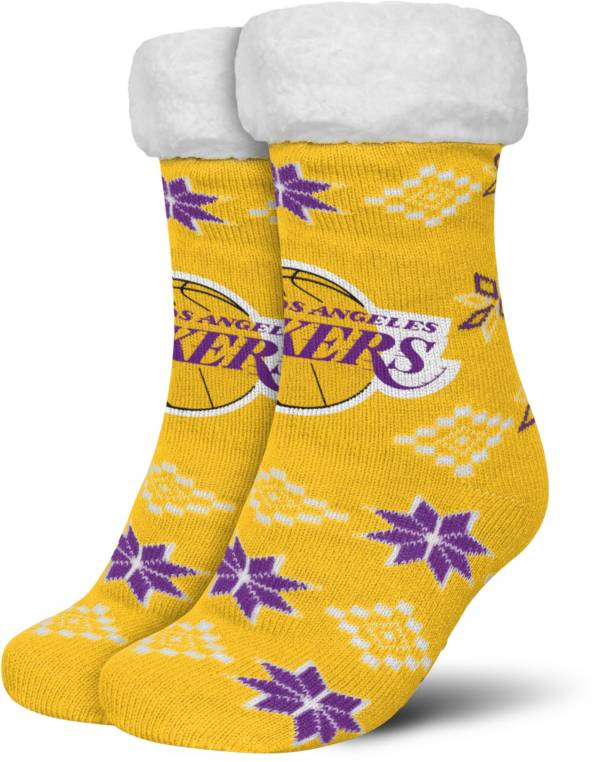 FOCO Los Angeles Lakers Cozy Footy Slippers product image