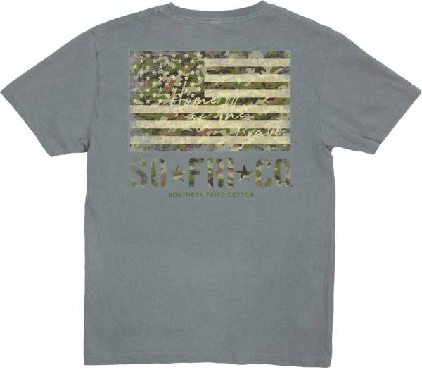 Southern Fried Cotton Boys' Camo Flag Short Sleeve Graphic T-Shirt product image