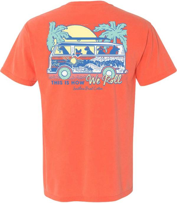 Southern Fried Cotton Men's How We Roll Short Sleeve Graphic T-Shirt product image