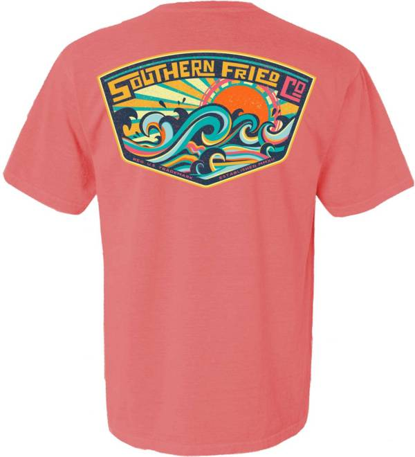 Southern Fried Cotton Men's Make Some Waves Short Sleeve Graphic T-Shirt product image