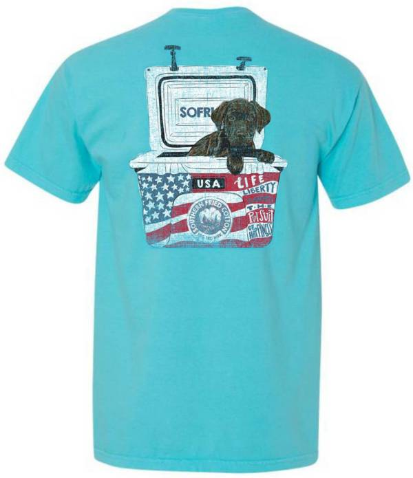 Southern Fried Cotton Men's Americana Dog Short Sleeve Graphic T-Shirt product image