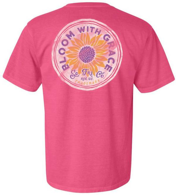 Southern Fried Cotton Women's Pink Bloom Short Sleeve Graphic T-Shirt product image