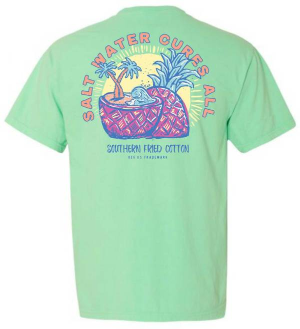 Southern Fried Cotton Women's Pineapple Surf Short Sleeve Graphic T-Shirt product image