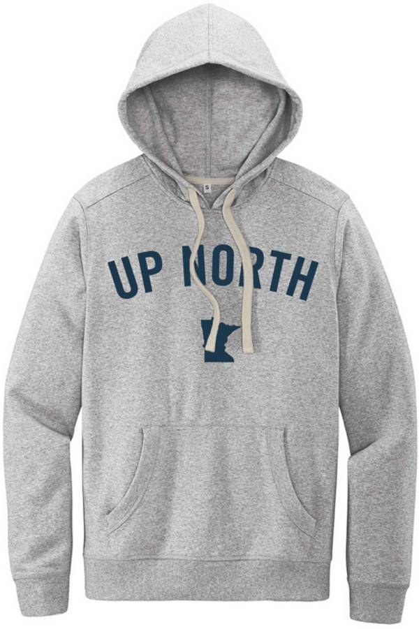 Up North Trading Company Men's Light Grey Up North MN Felt Hoodie product image