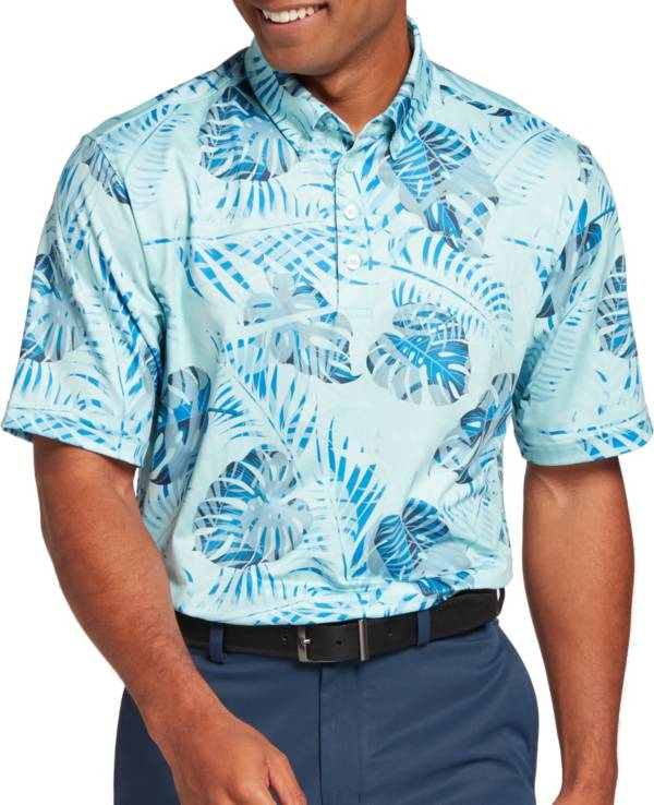 Walter Hagen Men's Perfect 11 Tropical Palm Print Golf Polo product image