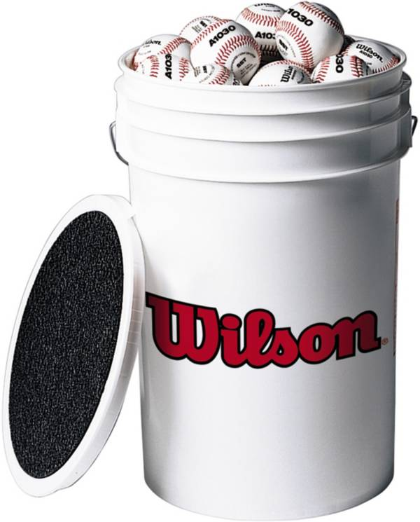 Wilson Bucket of 24 Leather Baseballs product image