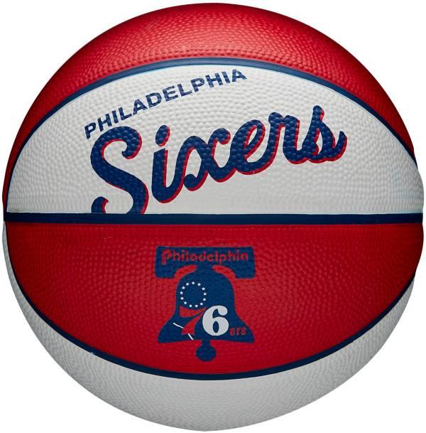 Wilson Philadelphia 76ers Retro Mini Basketball product image