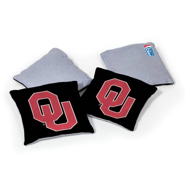 Wild Sports Oklahoma Sooners 4 pack Logo Bean Bag Set product image
