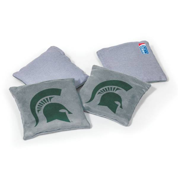 Wild Sports Michigan State Spartans 4 pack Logo Bean Bag Set product image