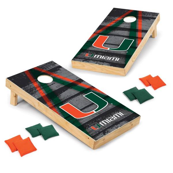 Wild Sports Miami Hurricanes 2x4 Vintage Tailgate Toss product image