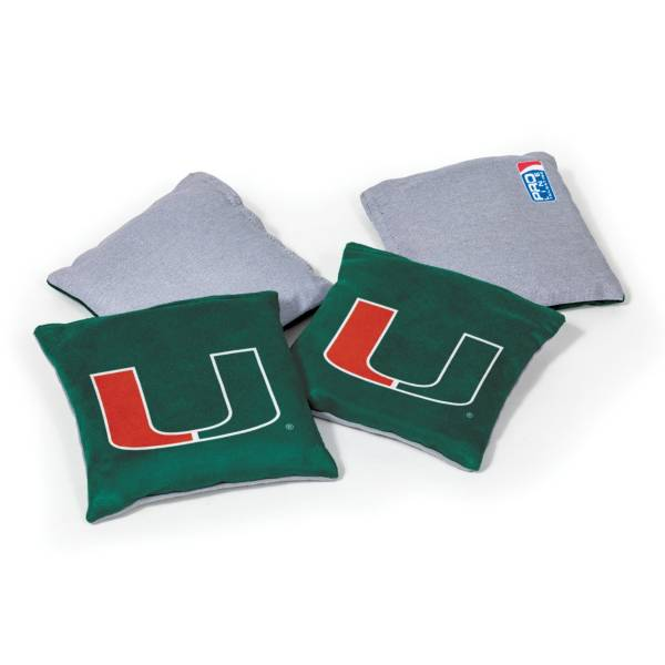 Wild Sports Miami Hurricanes 4 pack Bean Bag Set product image