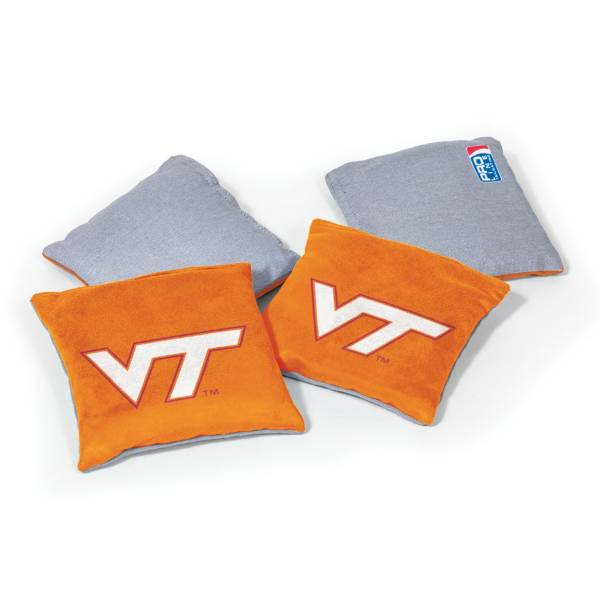 Wild Sports Virginia Tech Hokies 4 pack Logo Bean Bag Set product image