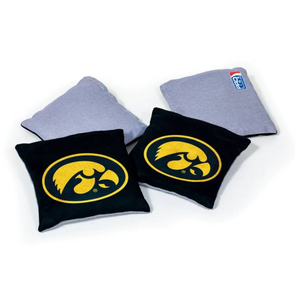 Wild Sports Iowa Hawkeyes 4 pack Logo Bean Bag Set product image