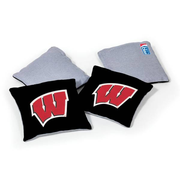 Wild Sports Wisconsin Badgers 4 pack Logo Bean Bag Set product image