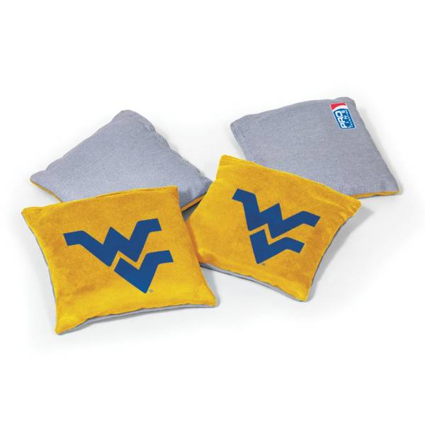 Wild Sports West Virginia Mountaineers 4 pack Logo Bean Bag Set product image