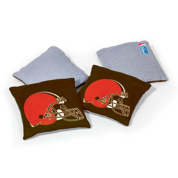 Wild Sports Cleveland Browns 4 pack Logo Bean Bag Set product image