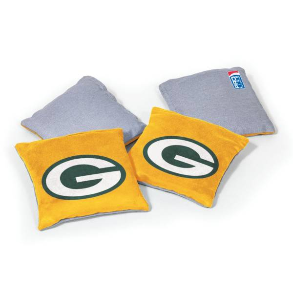 Wild Sports Green Bay Packers 4 pack Logo Bean Bag Set product image