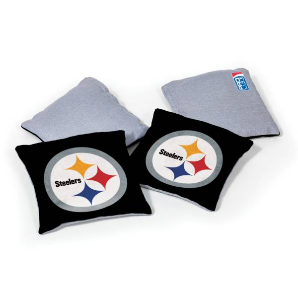 Wild Sports Pittsburgh Steelers 4 pack Logo Bean Bag Set product image