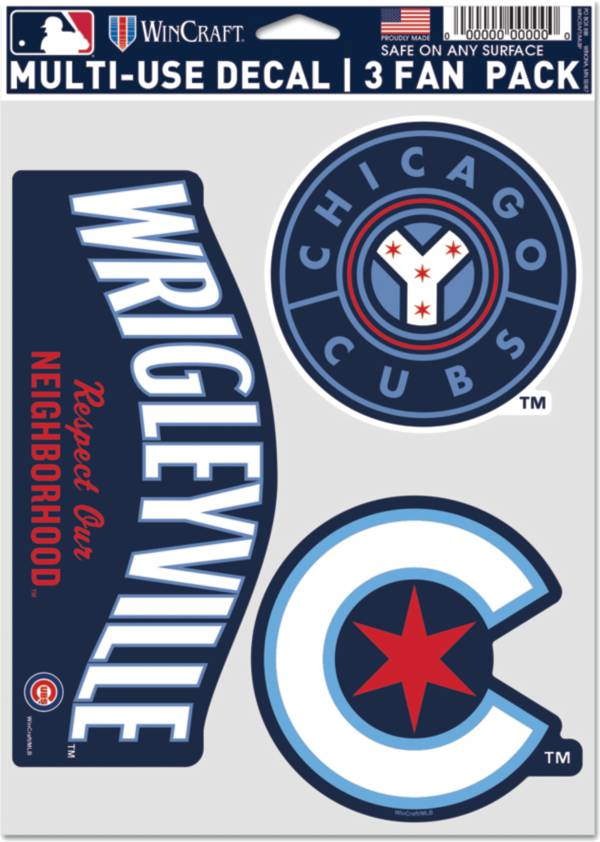 WinCraft Chicago Cubs 2021 City Connect 3-Pack Decal product image