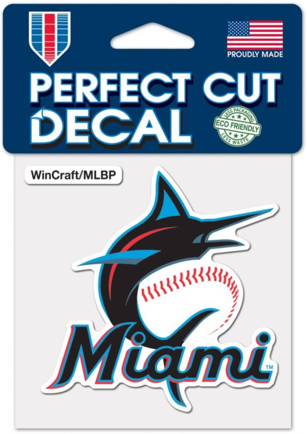 WinCraft Miami Marlins 4'' x 4'' Decal product image
