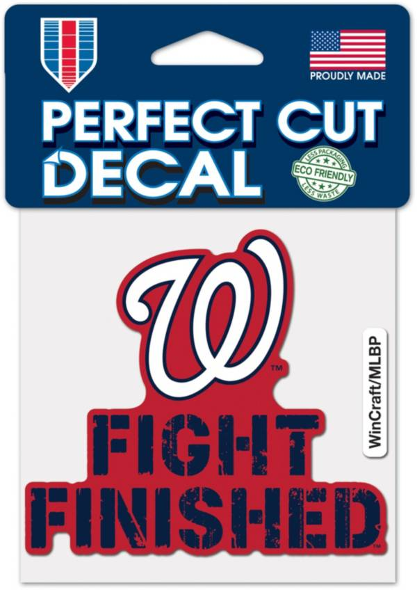 WinCraft Washington Nationals Fight Finished 4'' x 4'' Decal product image