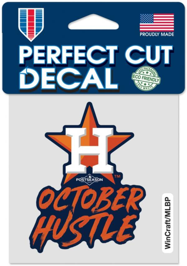 WinCraft Houston Astros October Hustle 4'' x 4'' Decal product image