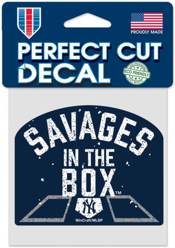 WinCraft New York Yankees Savages 4'' x 4'' Decal product image
