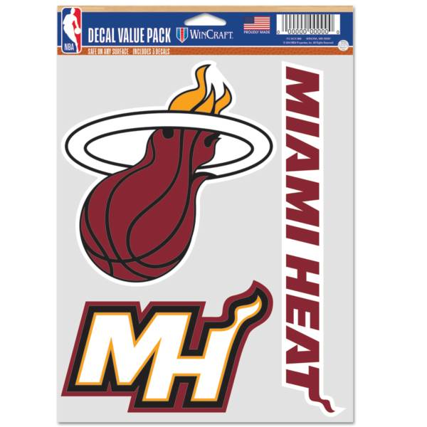 WinCraft Miami Heat 3 pk. Decal product image