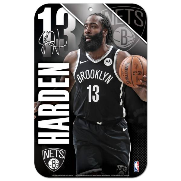 """Wincraft Brooklyn Nets James Harden 11"""" x 17"""" Sign product image"""