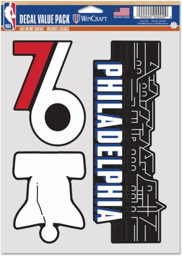 WinCraft 2020-21 City Edition Philadelphia 76ers Decal 3-Pack product image