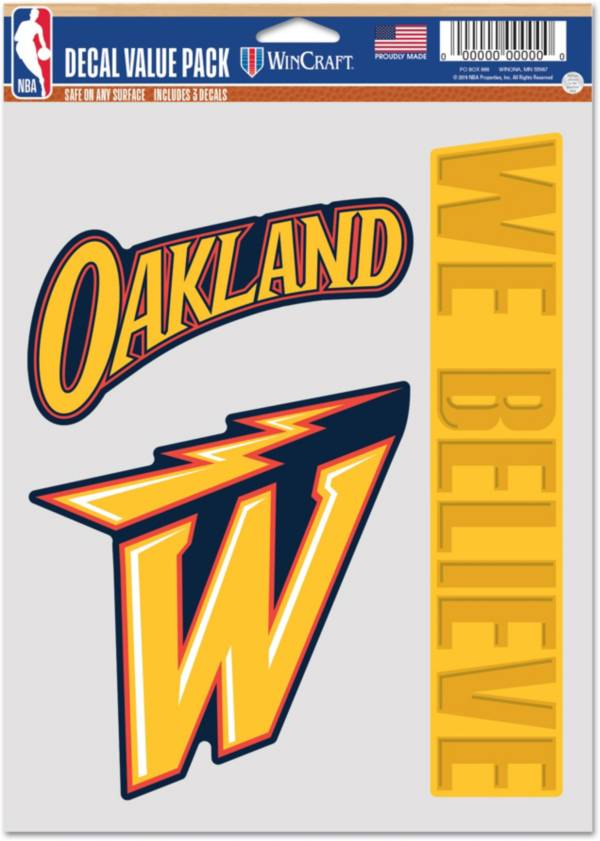 WinCraft 2020-21 City Edition Golden State Warriors Decal 3-Pack product image