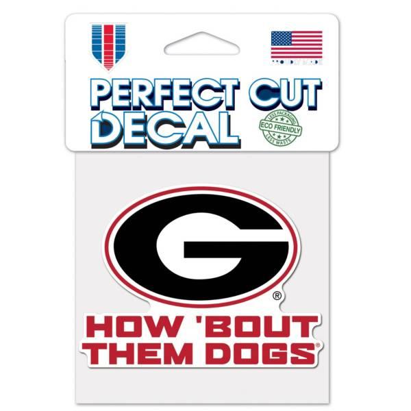 "WinCraft Georgia Bulldogs Slogan 4"" x 4"" Perfect Cut Decal product image"