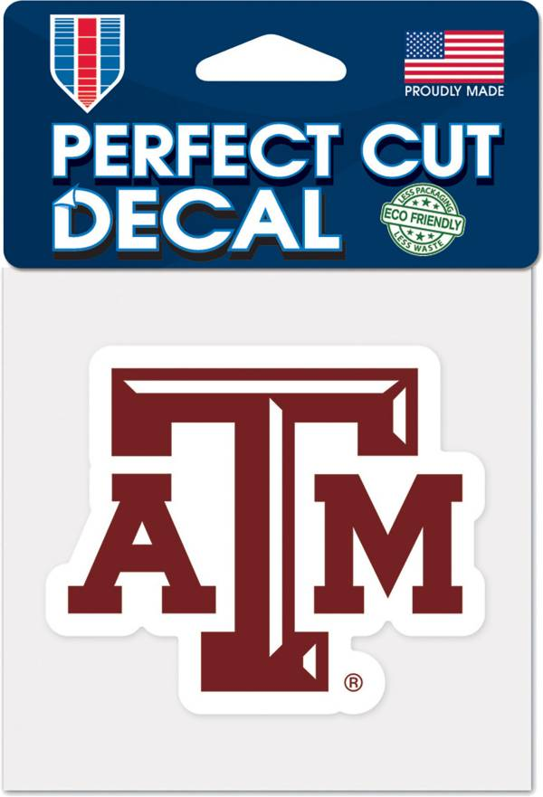 """WinCraft Texas A&M Aggies 4"""" x 4"""" Perfect Cut Decal product image"""