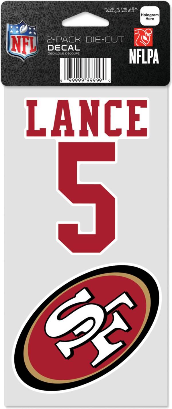 WinCraft San Francisco 49ers Trey Lance 2 Pk. Decal product image