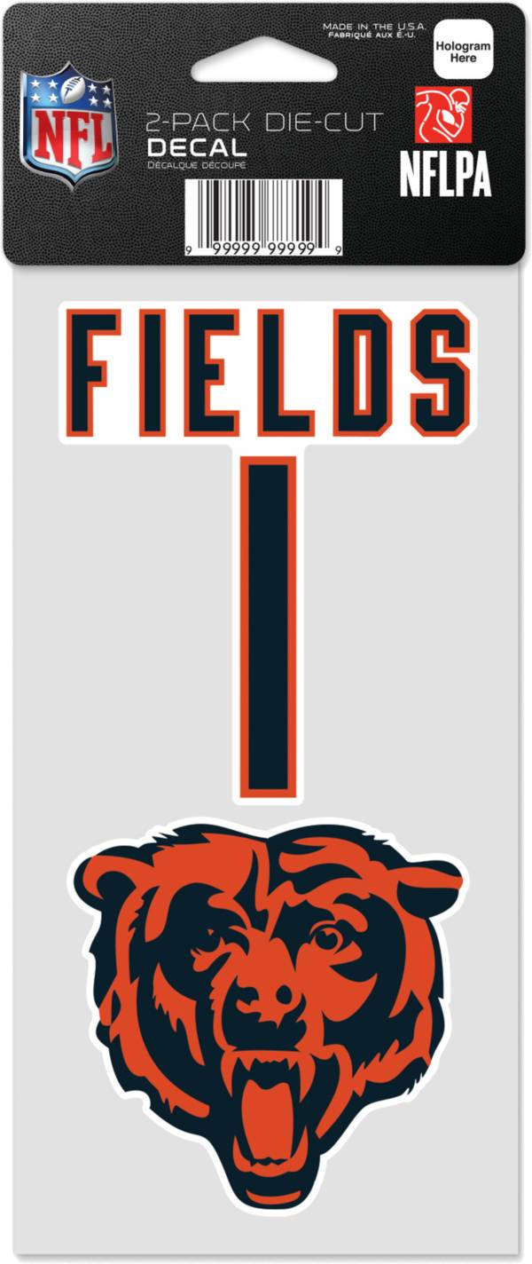 WinCraft Chicago Bears Justin Fields 2 Pk. Decal product image