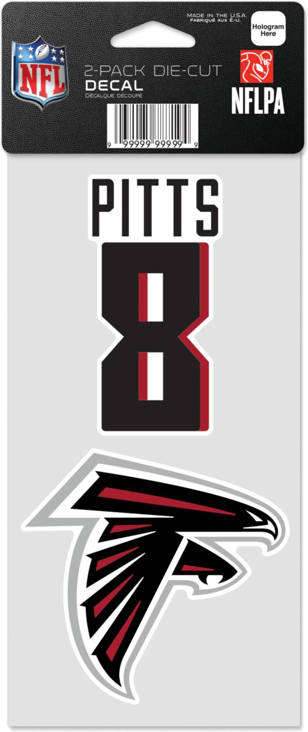 WinCraft Atlanta Falcons Kyle Pitts 2 Pk. Decal product image
