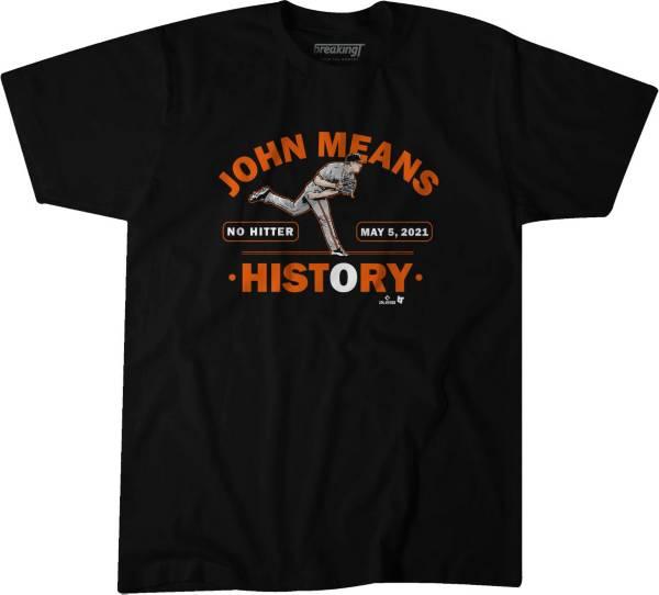 BreakingT Men's Means No Hitter Black Graphic T-Shirt product image