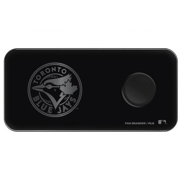 Fan Brander Toronto Blue Jays 3-in-1 Glass Wireless Charging Pad product image