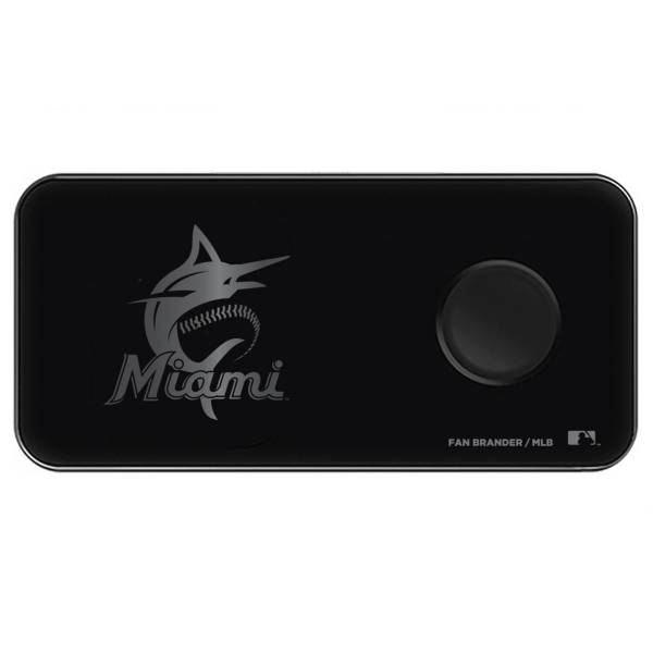 Fan Brander Miami Marlins 3-in-1 Glass Wireless Charging Pad product image