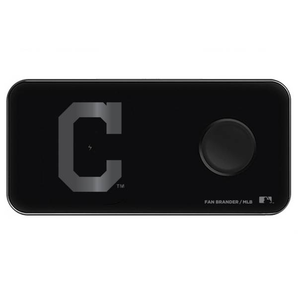 Fan Brander Cleveland Indians 3-in-1 Glass Wireless Charging Pad product image