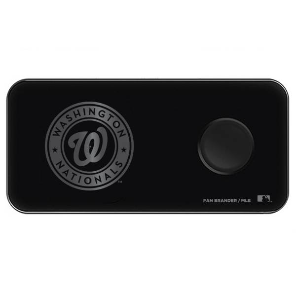 Fan Brander Washington Nationals 3-in-1 Glass Wireless Charging Pad product image