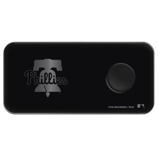 Fan Brander Philadelphia Phillies 3-in-1 Glass Wireless Charging Pad product image