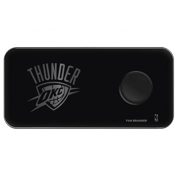 Fan Brander Oklahoma City Thunder 3-in-1 Glass Wireless Charging Pad product image