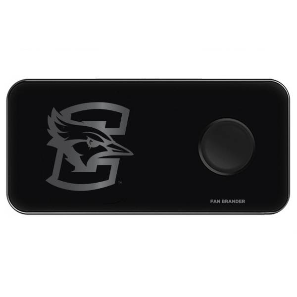 Fan Brander Creighton Bluejays 3-in-1 Glass Wireless Charging Pad product image