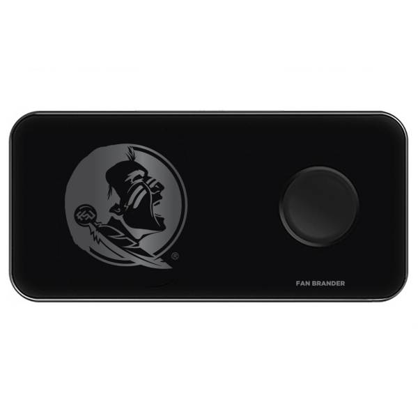 Fan Brander Florida State Seminoles 3-in-1 Glass Wireless Charging Pad product image
