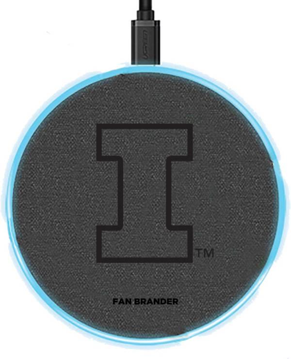 Fan Brander Illinois Fighting Illini 15-Watt Wireless Charging Base product image