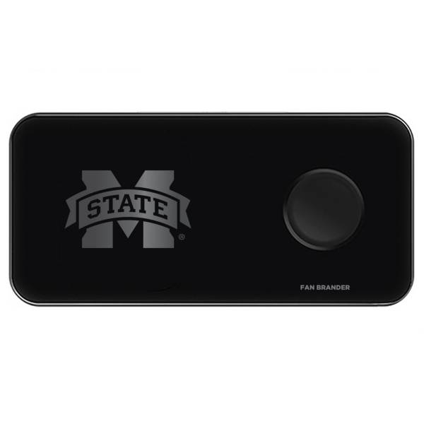 Fan Brander Mississippi State Bulldogs 3-in-1 Glass Wireless Charging Pad product image